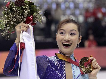 女子フィギュアスケート表彰式
