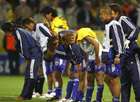 日本、ブラジルに負けた写真(><)